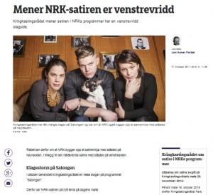 Kringkastingsrådet ber om at NRK bygger opp et satiremiljø med ståsted på høyresiden (Faksimile: nrk.no)