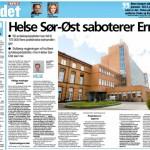 Helse Sør-Øst saboterer Erna (Faksimile VG)