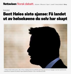 Vil Bent Høie forbli passiv, eller vil han endelig bruke sin politiske styringsmakt til å ta et oppgjør med den byråkratiske maktelitens utpekte forvaltere?