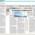 Hvem bygger vi sykehusene for? Faksimile Dagens Medisin nr. 9/2013