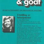 Fristilling av helsetjenester. Faksimile debatthefte Kort & Godt nr. 40 (1986)