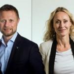 Fotomontasje: Helseminister Høie og President i Legeforening Gjessing (Høyre/Legeforeningen)
