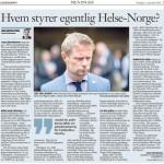 Hvem styrer egentlig Helse-Norge? (Faksimile Klassekampen 13.11.2014)