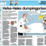 """""""Helse-Høies Dumpingpriser"""" Faksimile VG 14/03/2016"""