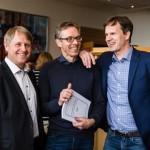 Jon Helle, Jon Magnussen og Christer Mjåset (Foto: Legeforeningen.no)